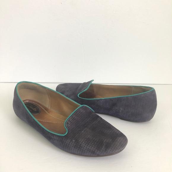 748484cbb Clark Purple Teal Loafer 7.5 Smoking Flats